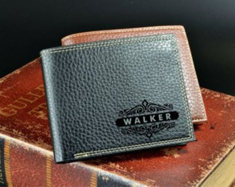 Personalized Men's Wallet - Anniversary Gift - Husband Gift, Men's Gift - Wallet for Men - Gift for Husband - Wedding Gift 21