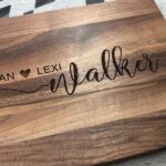 Personalized Wood Cutting Board. Custom Wedding Gifts for Couple. Bride & Groom Gift 4
