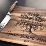 Personalized Cutting Board, Housewarming Gift, Home Sweet Home Gifts, Our First Home Couple Cutting Board Wood Cutting Board Custom Engraved 4