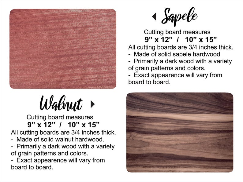 Personalized Wedding Gift for Couple, Cutting Board, Wedding Anniversary, Custom Engraved Walnut Cutting Board, Engagement Gift, Christmas 9