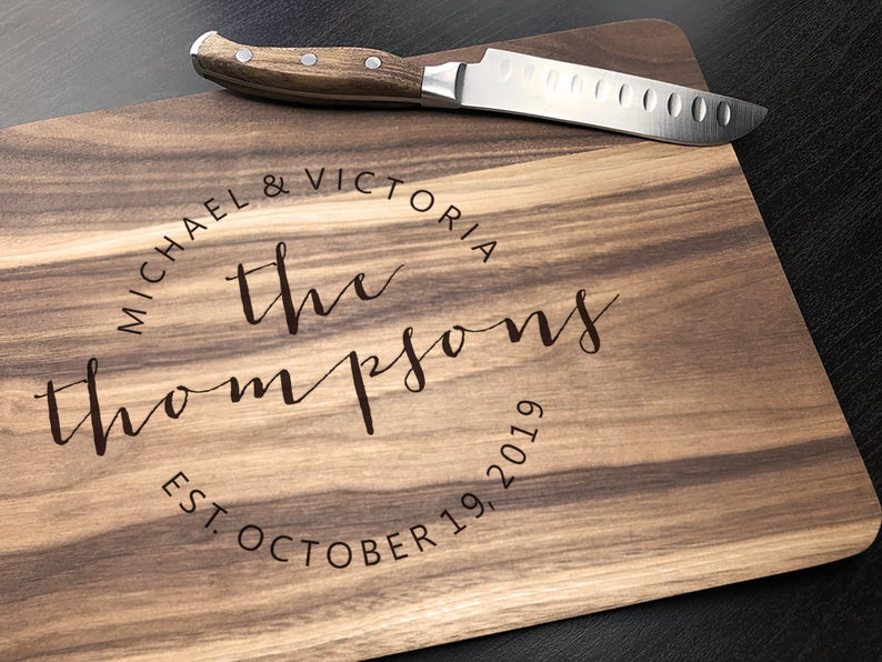 Personalized - Engraved Cutting board - Housewarming Gift, Anniversary Gift, Engagement Gift, Gift For Grandma, Cutting Boards Handmade, Mom 4