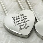 Personalized Silver Heart Love Padlock With Key, Love Lock, Heart Lock, Custom Lock, Engraved Love Lock, Silver Padlock, Love Wedding Gifts 2