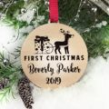 Baby First Christmas Ornament, Personalized Christmas Gift, Engraved Wooden Ornament, Baby First Gift for Christmas, Custom Gift for Baby 12
