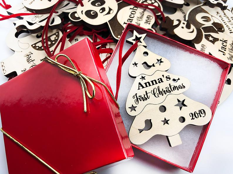 Personalized Christmas Ornament, Baby's First Christmas, Baby's First Christmas Ornament, Penguin Ornament, Custom Christmas Ornament Gift 11