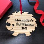 Personalized Baby's First Christmas Ornament, Christmas Baby Keepsake, Baby's 1st Christmas Ornament, New Parent Christmas Ornament 4