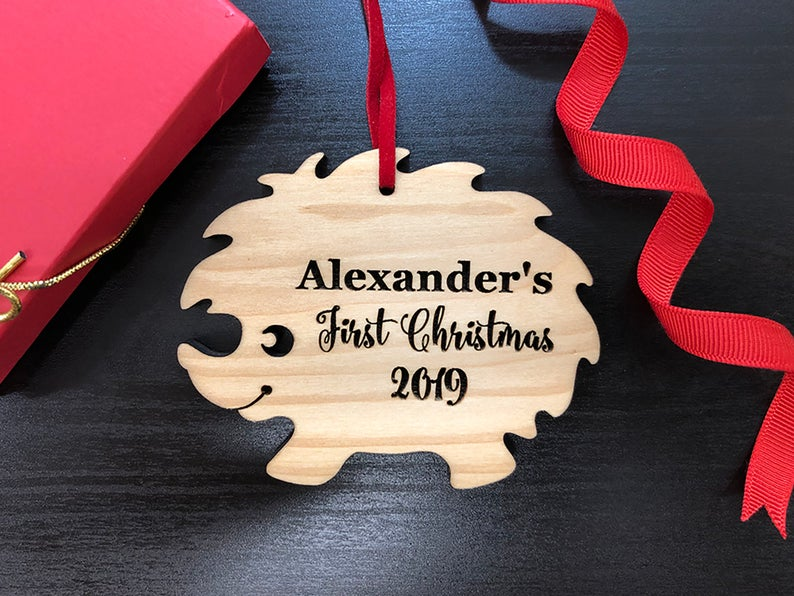 Personalized Baby's First Christmas Ornament, Christmas Baby Keepsake, Baby's 1st Christmas Ornament, New Parent Christmas Ornament 6