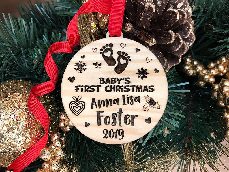 Baby's First Christmas Ornament, Baby's First Christmas Ornament Baby's 1st Christmas Ornament First Christmas Baby's First Ornament Baby's 9