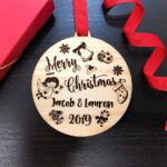 Personalized Christmas Ornament, Our First Christmas Ornaments Personalized, Newlywed Ornament, Just Married Ornament, Merry Christmas Gift 2