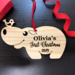 Personalized Baby's First Christmas Ornament, Baby's First Ornament, Christmas Gift or Baby Gift, Personalized Baby's Christmas Gift 2