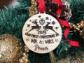 Our First Christmas Ornament, Just Married Couple Personalized Christmas Ornament, Newlywed Gift, Housewarming gift Custom Engraved Ornament 20