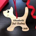 Baby's First Christmas Ornament, Engraved Kitten Christmas Ornament, Baby's Personalized Christmas Gift, Christmas Personalized Ornament 2