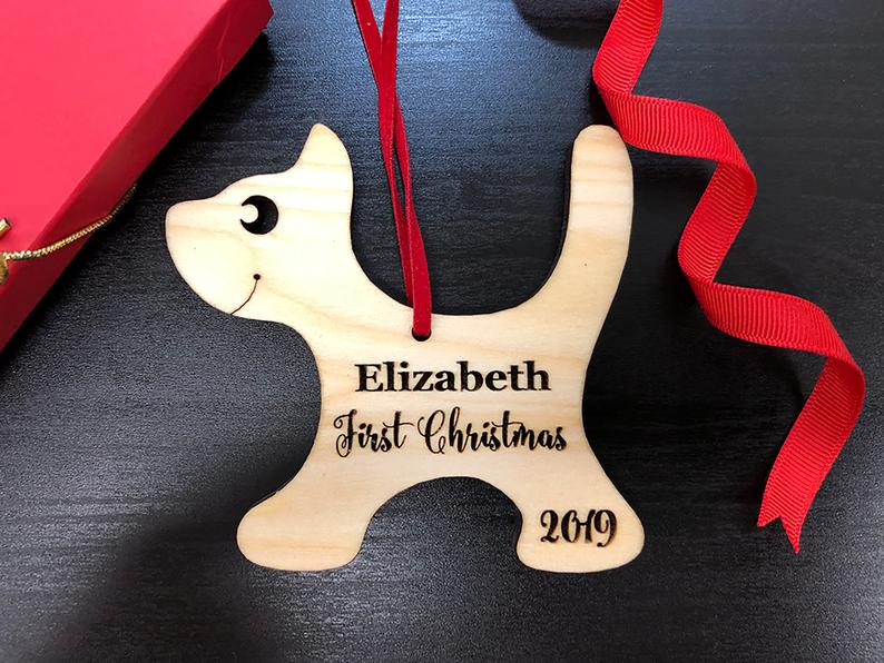 Baby's First Christmas Ornament, Engraved Kitten Christmas Ornament, Baby's Personalized Christmas Gift, Christmas Personalized Ornament 6
