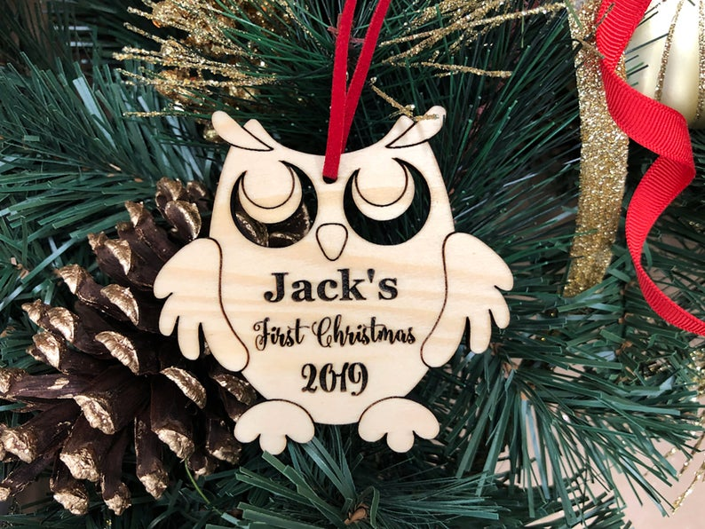 Personalized Baby's First Christmas Ornament, Baby First Ornament, Personalized Christmas Ornament, New Baby Gift, Baby's First Christmas 13