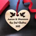 Personalized Wedding Gift, First Christmas Ornament, Just Married Wedding Gift for Couple, Wedding Ornament Ornaments Personalized Newlywed 2
