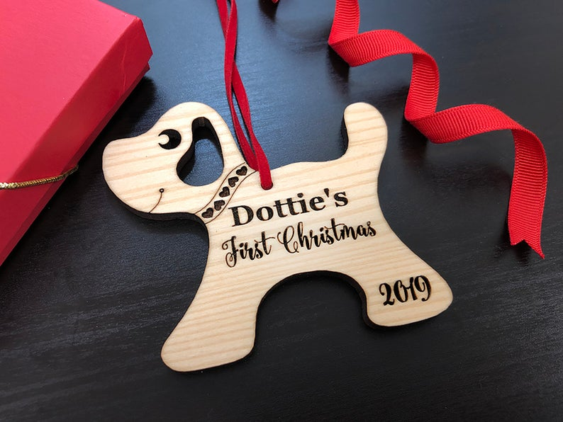 Personalized Dog Christmas Ornament with Name - Christmas Gift for Dog Lovers, Dog Gift, Pet Gift, Custom Ornament, Christmas Dog Ornament 13