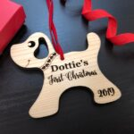 Personalized Dog Christmas Ornament with Name - Christmas Gift for Dog Lovers, Dog Gift, Pet Gift, Custom Ornament, Christmas Dog Ornament 2