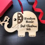 First Christmas Baby Ornament | First Christmas Baby Keepsake | Christmas Ornament Baby | New Parent Christmas Ornament | Baby Ornament Gift 4