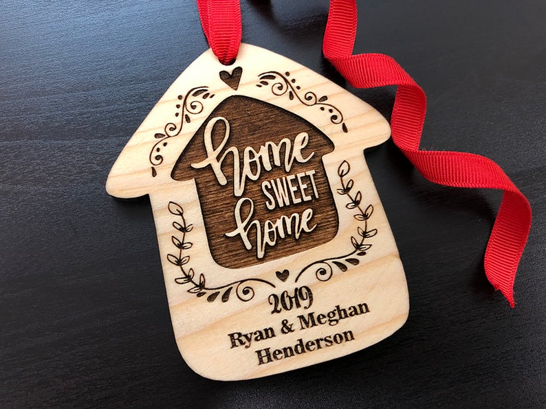 Home Sweet Home Personalized Christmas Ornament, New Home Ornament, Our First Home, Real Estate Agent, Realtor Gift, New House Ornament 11