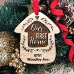 Home Sweet Home Personalized Christmas Ornament, New Home Ornament, Our First Home, Real Estate Agent, Realtor Gift, New House Ornament 2