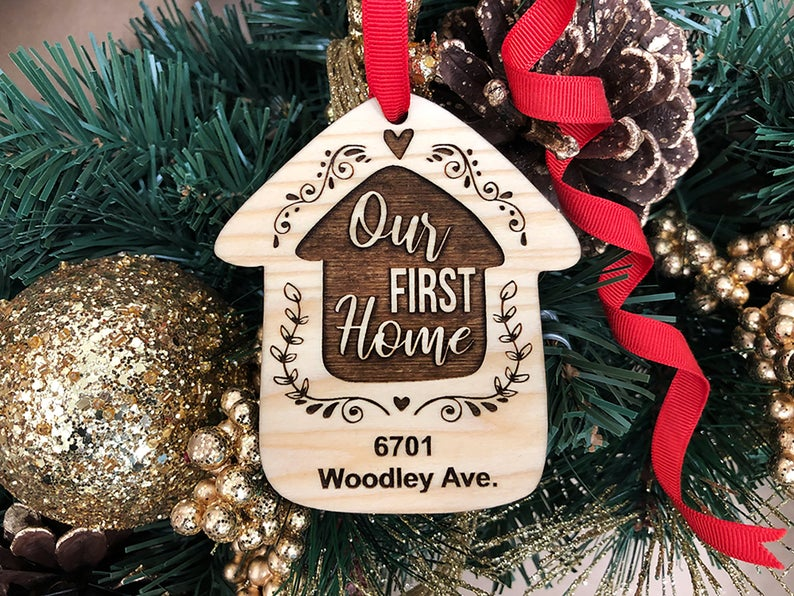 Home Sweet Home Personalized Christmas Ornament, New Home Ornament, Our First Home, Real Estate Agent, Realtor Gift, New House Ornament 6