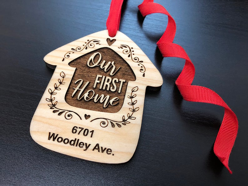 Home Sweet Home Personalized Christmas Ornament, New Home Ornament, Our First Home, Real Estate Agent, Realtor Gift, New House Ornament 13