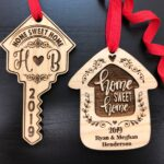 Housewarming Gift, New Home Housewarming Gift, First Christmas in New Home Ornament, Personalized Christmas Ornaments, Home Sweet Home Gift 2
