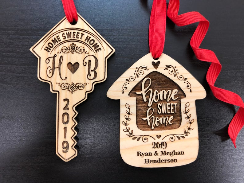Housewarming Gift, New Home Housewarming Gift, First Christmas in New Home Ornament, Personalized Christmas Ornaments, Home Sweet Home Gift 5