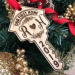 Our First Home Key Personalized Christmas Ornament, New Home Ornament, Our First Home, Real Estate Agent, Realtor Gift, New House, Our Home 2