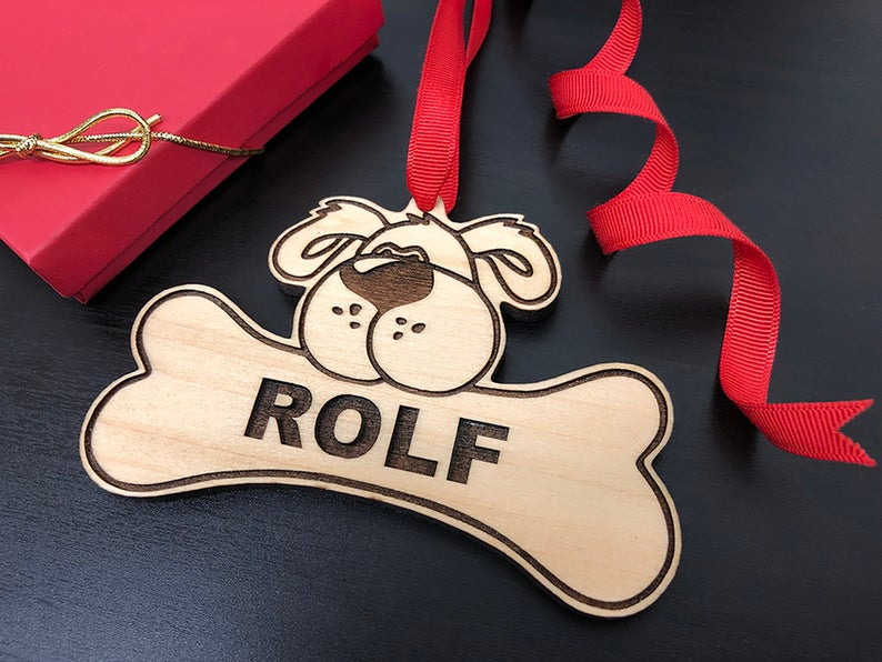 Dog Christmas Ornament, Dog Gift, Dog Ornament, Personalize with Name, Custom Dog Ornament, Christmas Gift for Dog Owner, Ornament for Dog 9