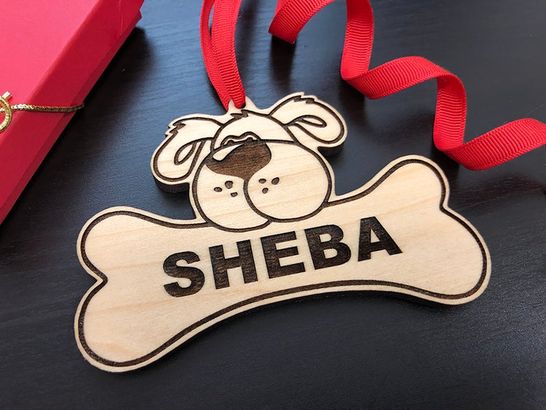 Dog Christmas Ornament, Dog Gift, Dog Ornament, Personalize with Name, Custom Dog Ornament, Christmas Gift for Dog Owner, Ornament for Dog 11