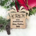 Christmas Ornaments Personalized Wedding Ornament Personalized Wedding Gifts for Couple First Christmas Ornament Married Newlywed Ornament 36