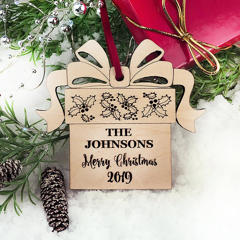 Christmas Ornaments Personalized Wedding Ornament Personalized Wedding Gifts for Couple First Christmas Ornament Married Newlywed Ornament 17