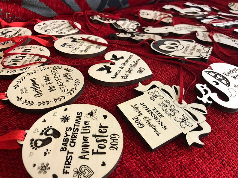 Christmas Ornaments Personalized Wedding Ornament Personalized Wedding Gifts for Couple First Christmas Ornament Married Newlywed Ornament 19