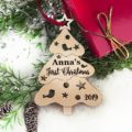 Christmas Ornament Personalized Christmas Ornament, Christmas Tree Baby Gift, Baby First Christmas Ornament, Baby's First Christmas Ornament 20
