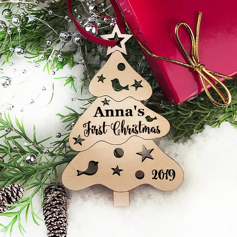 Christmas Ornament Personalized Christmas Ornament, Christmas Tree Baby Gift, Baby First Christmas Ornament, Baby's First Christmas Ornament 19