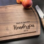 Personalized Cutting Board, Walnut Cutting Board, New Home Gift, Wedding Gift for the Couple, Housewarming Gift, Bride & Groom Gift 4