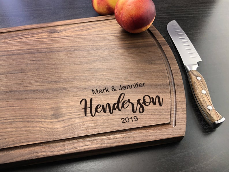 Personalized Cutting Board, Walnut Cutting Board, New Home Gift, Wedding Gift for the Couple, Housewarming Gift, Bride & Groom Gift 6
