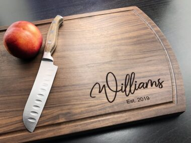 Personalized and Customized for Weddings and Gifts California Cutting Board