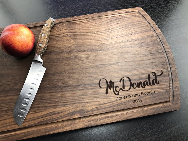 Personalized Cutting Board, Engraved Cutting Board, Walnut Cutting Board, Housewarming Gift, Engagement Gift, Housewarming, Christmas Gift 9
