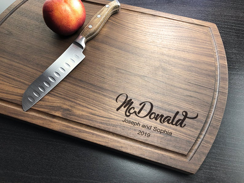 Personalized Cutting Board, Engraved Cutting Board, Walnut Cutting Board, Housewarming Gift, Engagement Gift, Housewarming, Christmas Gift 11
