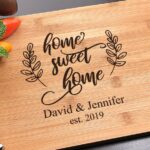 Home Sweet Home, Housewarming Gift, Personalized cutting board, First Home Gift, Walnut Cutting Board, New Home 4