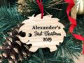 Personalized Baby's First Christmas Ornament, Christmas Baby Keepsake, Baby's 1st Christmas Ornament, New Parent Christmas Ornament 20
