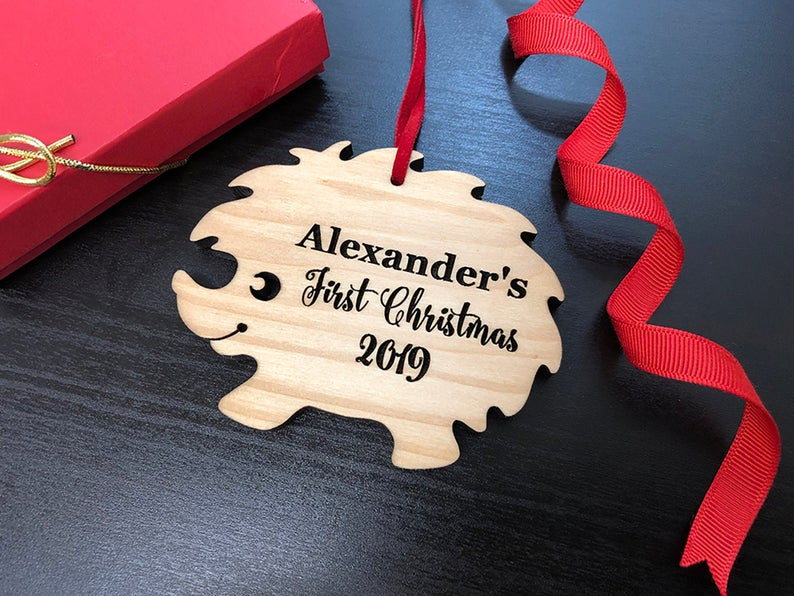 Personalized Baby's First Christmas Ornament, Christmas Baby Keepsake, Baby's 1st Christmas Ornament, New Parent Christmas Ornament 21
