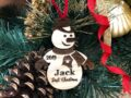 Baby's First Christmas Ornament, Personalized, Baby's First Christmas Gift, Baby's 1st Christmas, Snowman, Engraved Christmas Gift Ornament 5