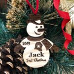 Baby's First Christmas Ornament, Personalized, Baby's First Christmas Gift, Baby's 1st Christmas, Snowman, Engraved Christmas Gift Ornament 2