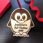Personalized Christmas Ornament, Baby's First Christmas, Baby's First Christmas Ornament, Penguin Ornament, Custom Christmas Ornament Gift 2