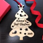 Christmas Ornament Personalized Christmas Ornament, Christmas Tree Baby Gift, Baby First Christmas Ornament, Baby's First Christmas Ornament 4