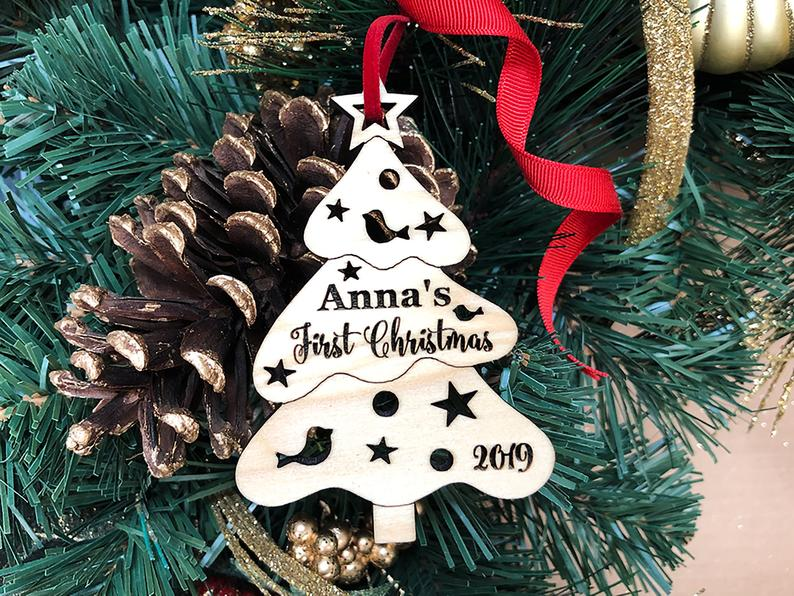 Christmas Ornament Personalized Christmas Ornament, Christmas Tree Baby Gift, Baby First Christmas Ornament, Baby's First Christmas Ornament 25