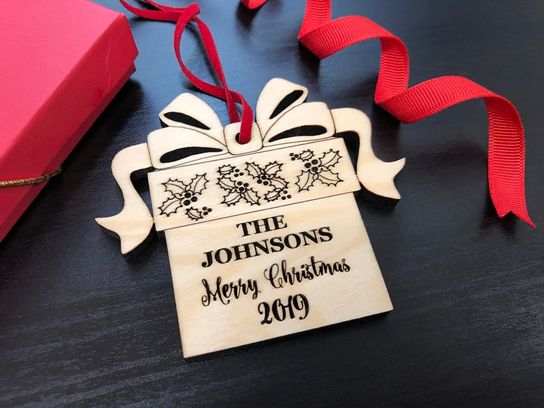 Christmas Ornaments Personalized Wedding Ornament Personalized Wedding Gifts for Couple First Christmas Ornament Married Newlywed Ornament 39