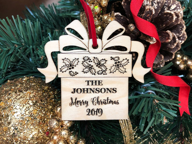 Christmas Ornaments Personalized Wedding Ornament Personalized Wedding Gifts for Couple First Christmas Ornament Married Newlywed Ornament 23
